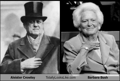 Image result for barbara bush and aleister crowley